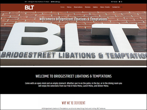 Quadro Marketing designed and developed the new website for Bridgestreet Libations & Temptations, located in New Hartford, CT. Quadro also hosts and maintains the website and provides website updates and support.