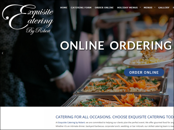 Quadro Marketing added additional functionality to the site we built for Exquisite Catering last year. The updated site now incorporates an entire online ordering system with e-commerce, credit card processing, a menu item database, and delivery dates & times built in.